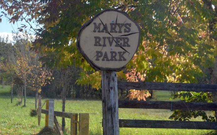 Marys River Park sign
