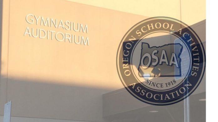 OSAA logo and PHS gym