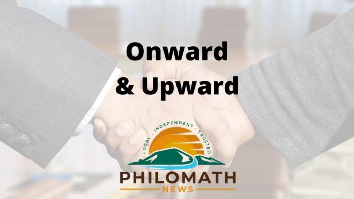 Philomath News Onward & Upward Logo
