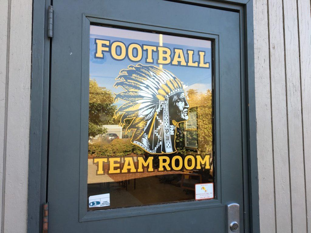 PHS football team room