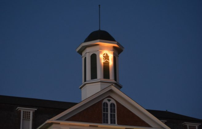 Philomath Museum bell tower for Christmas