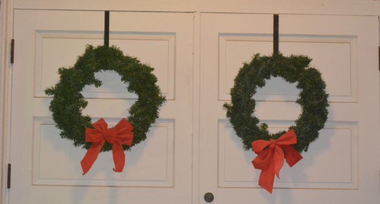 Christmas wreaths at Philomath Museum