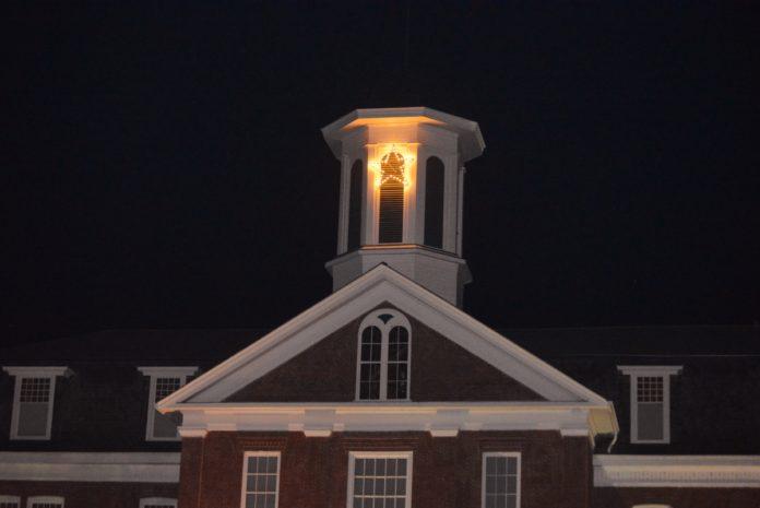 Philomath Museum bell tower's Christmas star