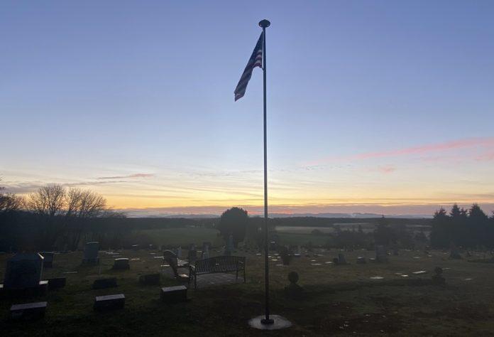 Mount Union Cemetery flagpole