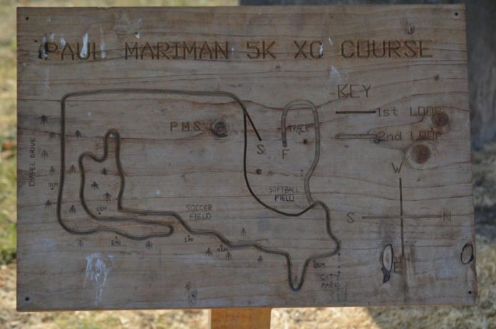 PHS cross-country course sign