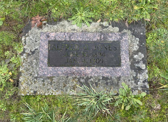 Grave marker for Alfred O. Jones