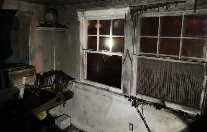 Fire damage at boarding house