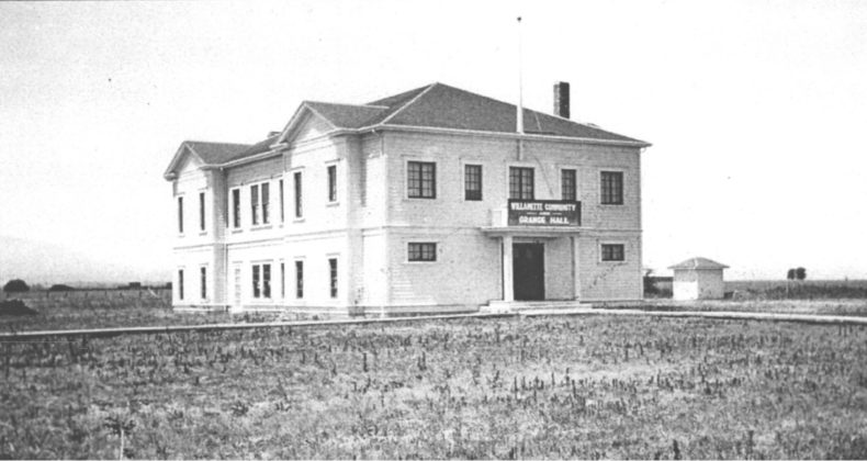 Willamette Community and Grange Hall in 1930s