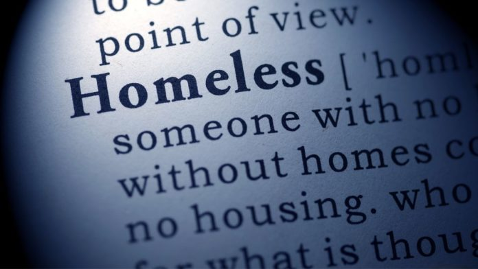 Dictionary entry for homeless