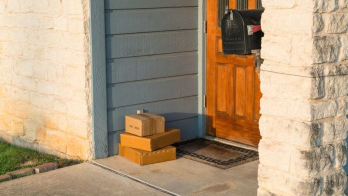 Packages sitting on a porch