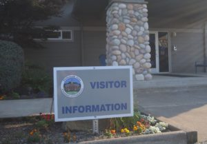 Philomath Area Chamber of Commerce sign