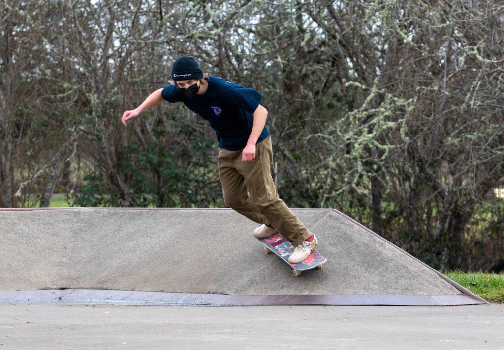 Liam Gaskill skateboarding