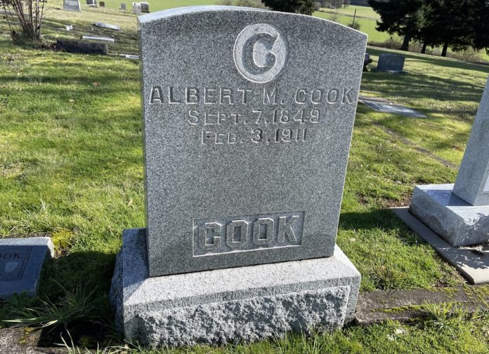 Albert Cook grave marker
