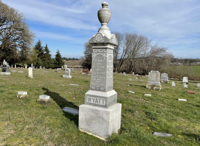 William Wyatt grave marker
