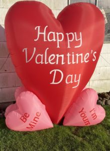 Happy Valentine's Day inflatable heart