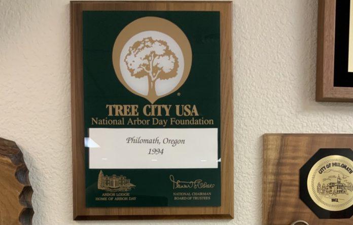 Tree City USA plaque