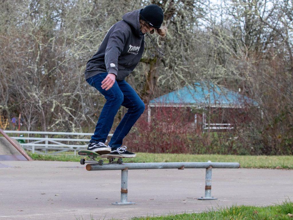 Ethan Manchette at skate park