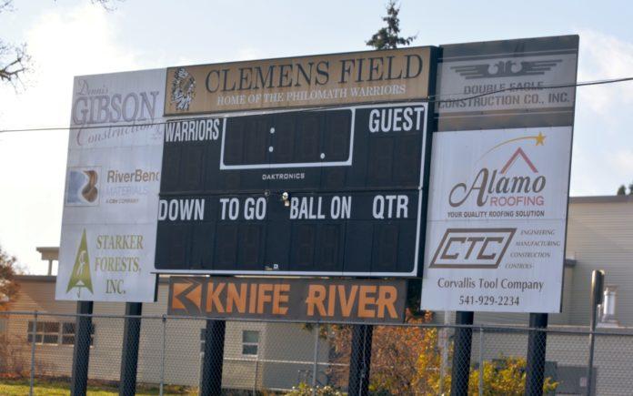 Clemens Field scoreboard