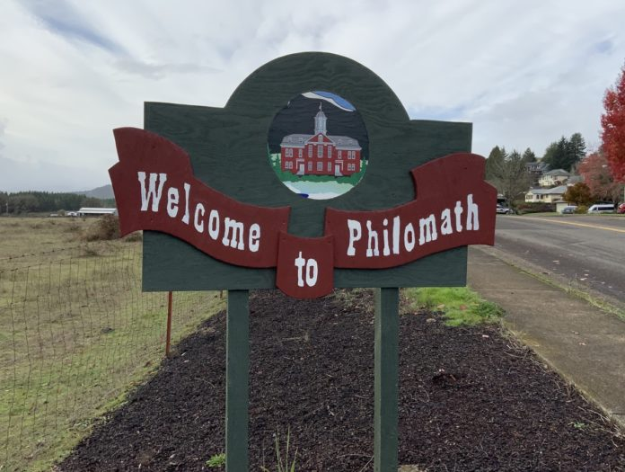 Welcome to Philomath sign