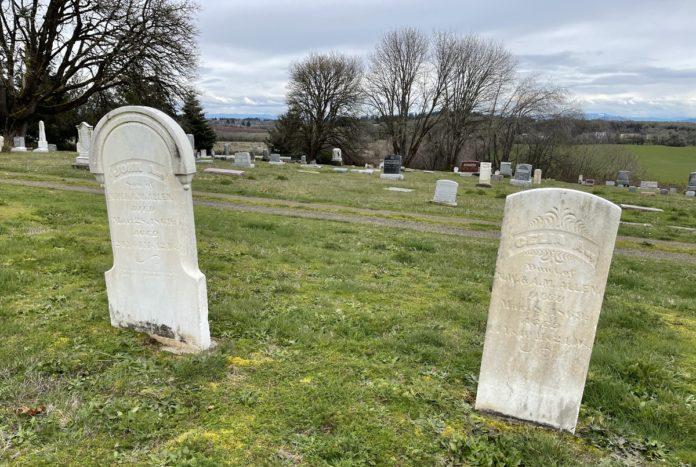Celia Allen and John Allen grave markers