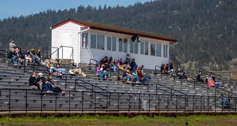 Parents in grandstands
