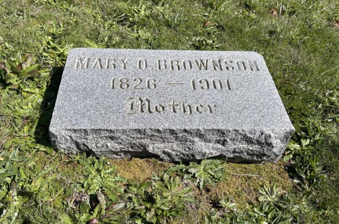 Mary Bronson grave marker