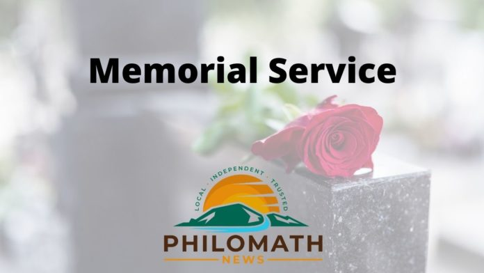 Memorial service logo