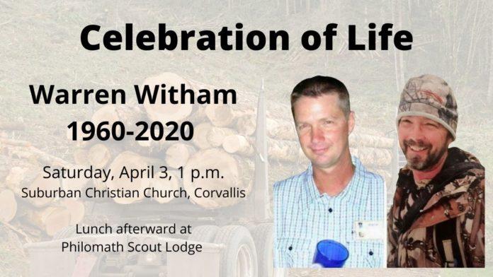 Warren Witham celebration of life