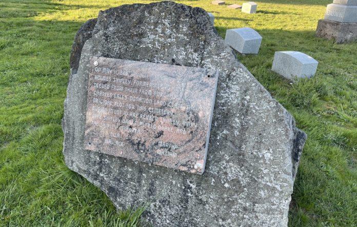 Shipley marker in cemetery