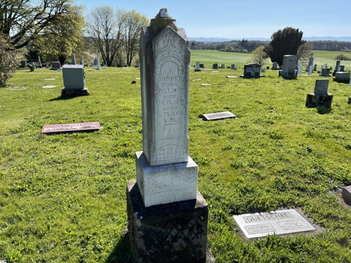 Francis Marion Cooper grave marker