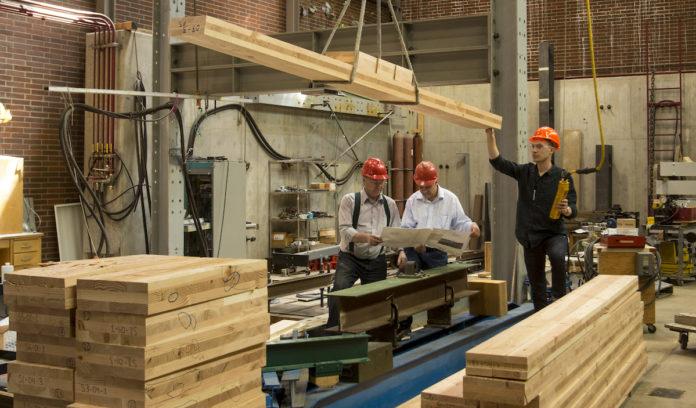 Timber study in OSU lab