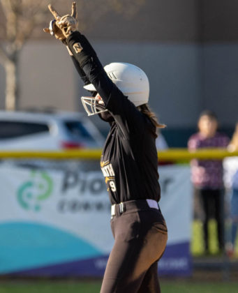 Kyla Berger after hitting double