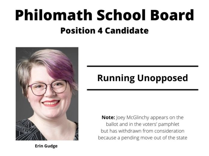 Philomath School Board Position 4 candidate