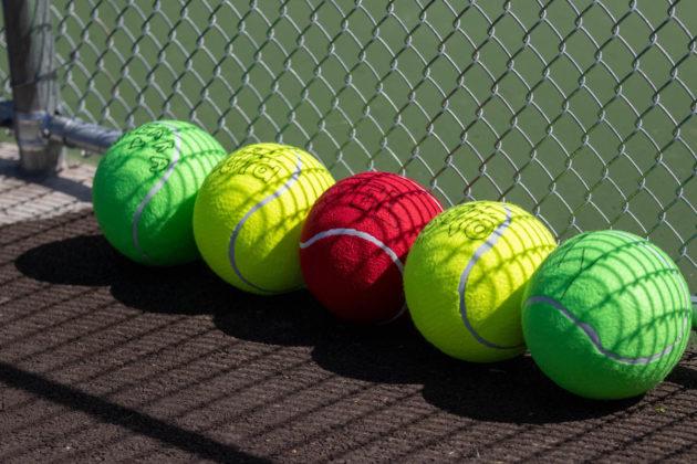 Signed tennis balls
