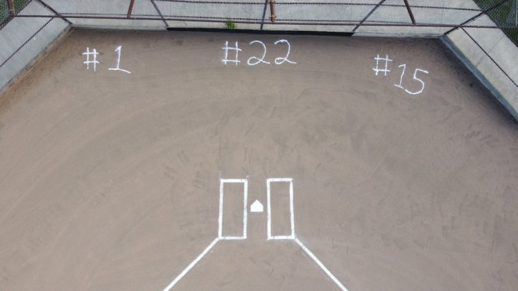 Seniors honored with numbers on field
