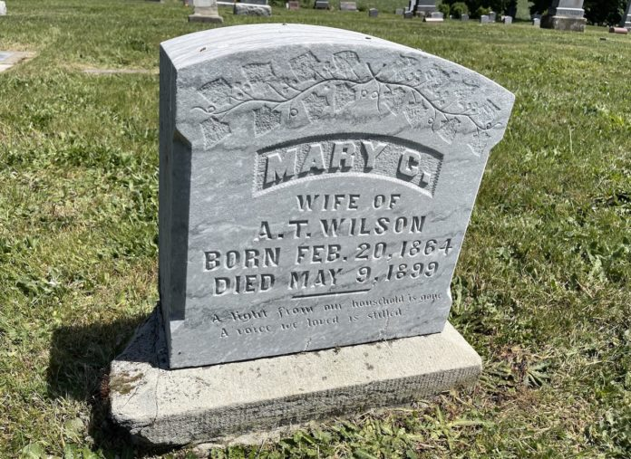 Mary Wilson's grave marker