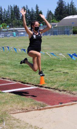Ellie Morton in long jump