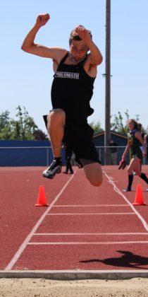 George House in triple jump