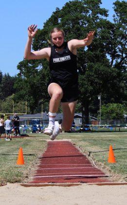 Sage Kramer in triple jump