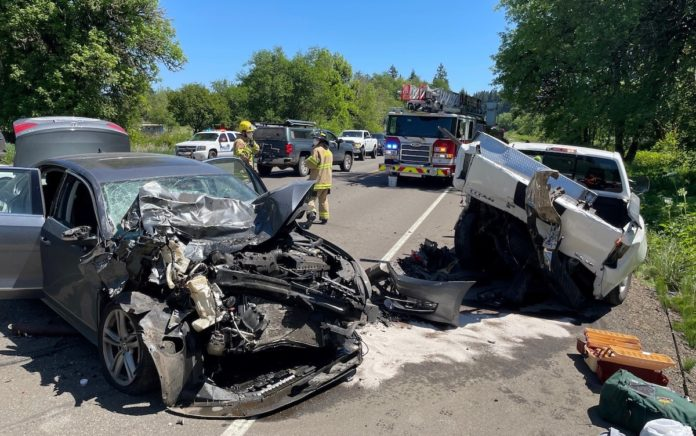 Highway 20 and Priest Road crash