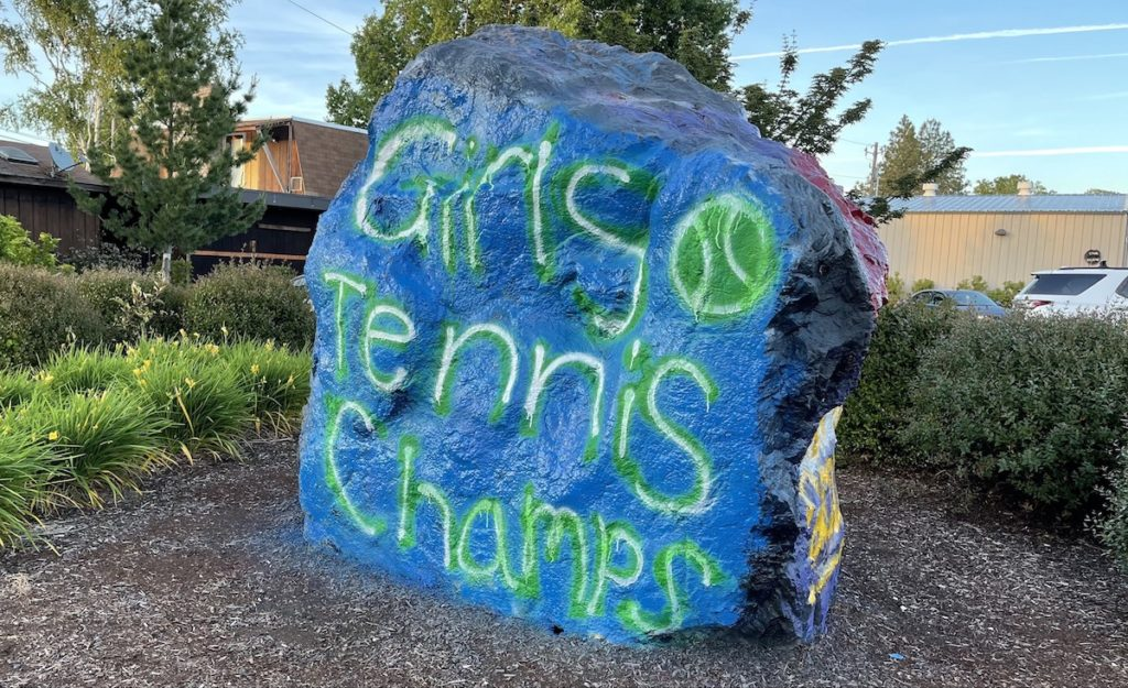 PHS boulder with girls tennis recognized