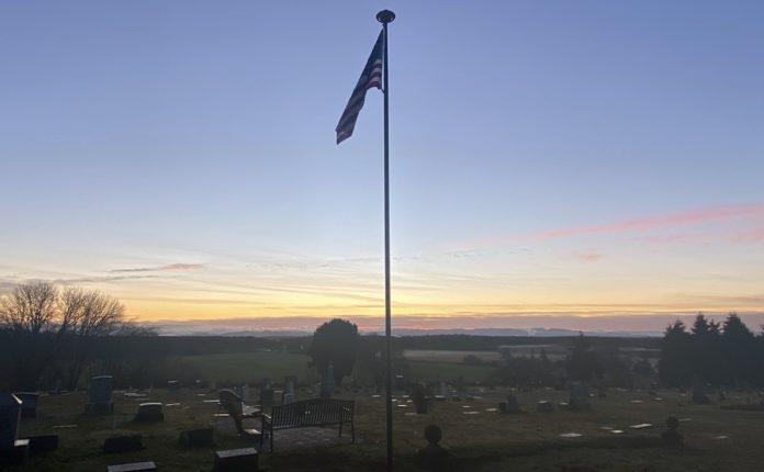 Mount Union Cemetery's flagpole