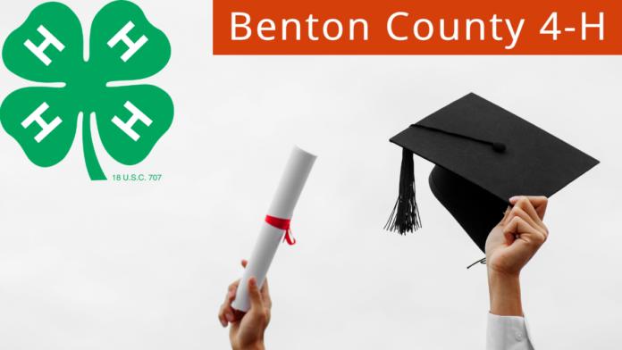 Artwork showing 4-H logo, college graduation