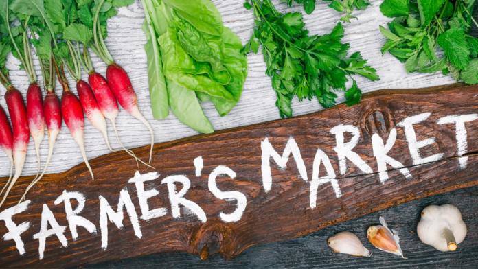 Farmers' market artwork