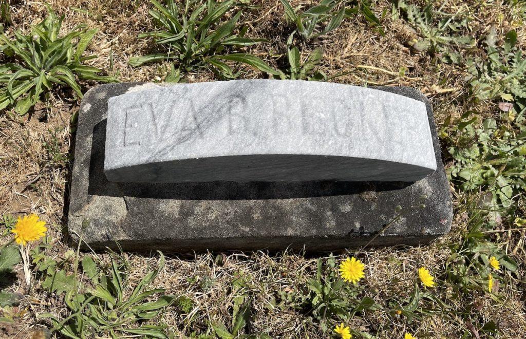 Eva Becker's grave marker