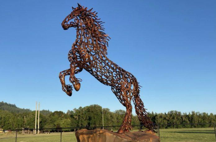 Skirvin Park horse sculpture