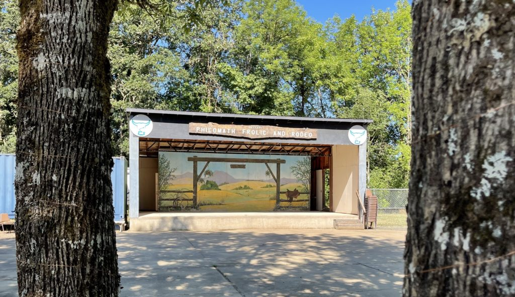 Yew Wood Corral stage