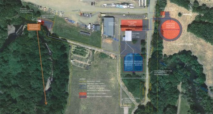Water treatment plant map