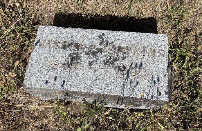 Vashi Hawkins grave marker