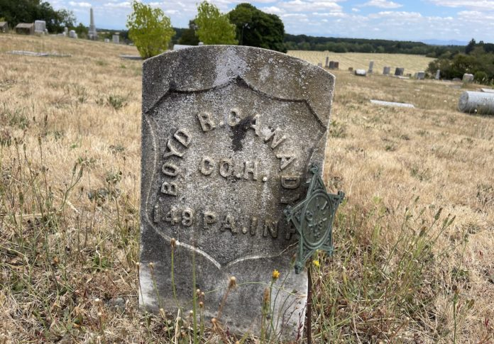 Boyd Canady grave marker